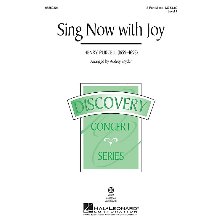 Hal LeonardSing Now with Joy (Discovery Level 1) VoiceTrax CD Arranged by Audrey Snyder