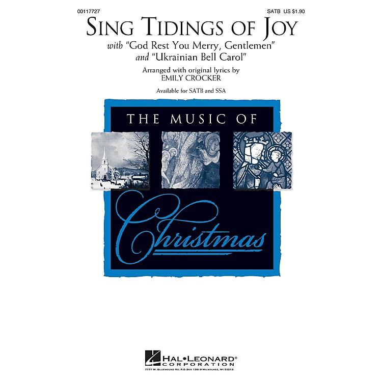 Hal Leonard Sing Tidings of Joy SSA Arranged by Emily Crocker