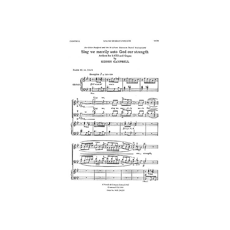 NovelloSing We Merrily Unto God Our Strength SATB Composed by Sidney Campbell