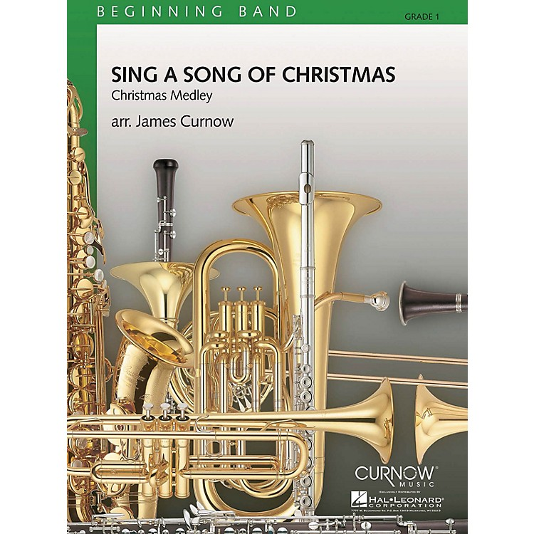 Curnow MusicSing a Song of Christmas (Grade 1 - Score Only) Concert Band Level 1 Arranged by James Curnow