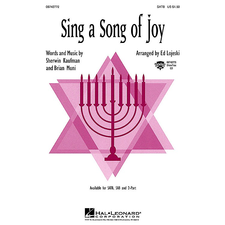 Hal Leonard Sing a Song of Joy 2-Part Arranged by Ed Lojeski