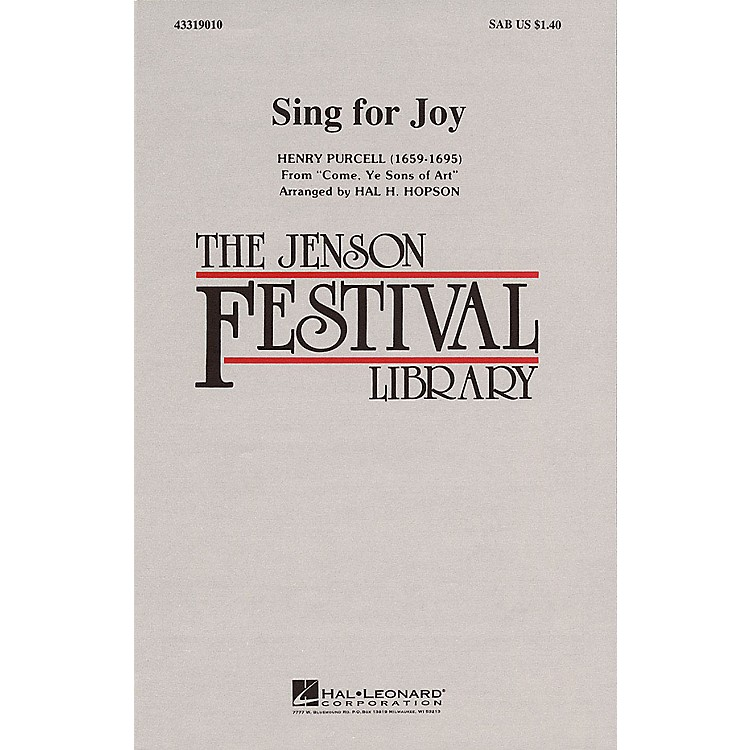 Hal Leonard Sing for Joy SAB arranged by Hal Hopson