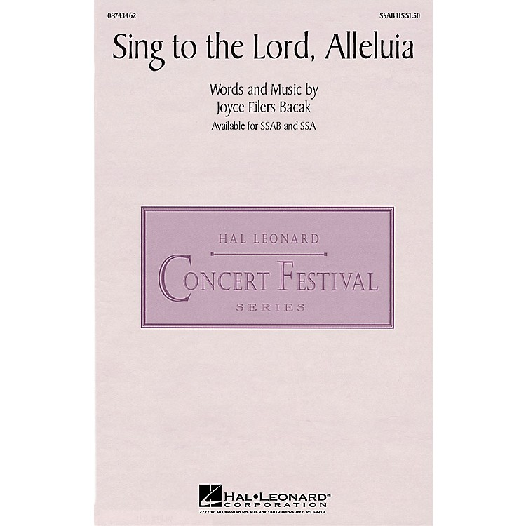 Hal LeonardSing to the Lord, Alleluia SSA Composed by Joyce Eilers