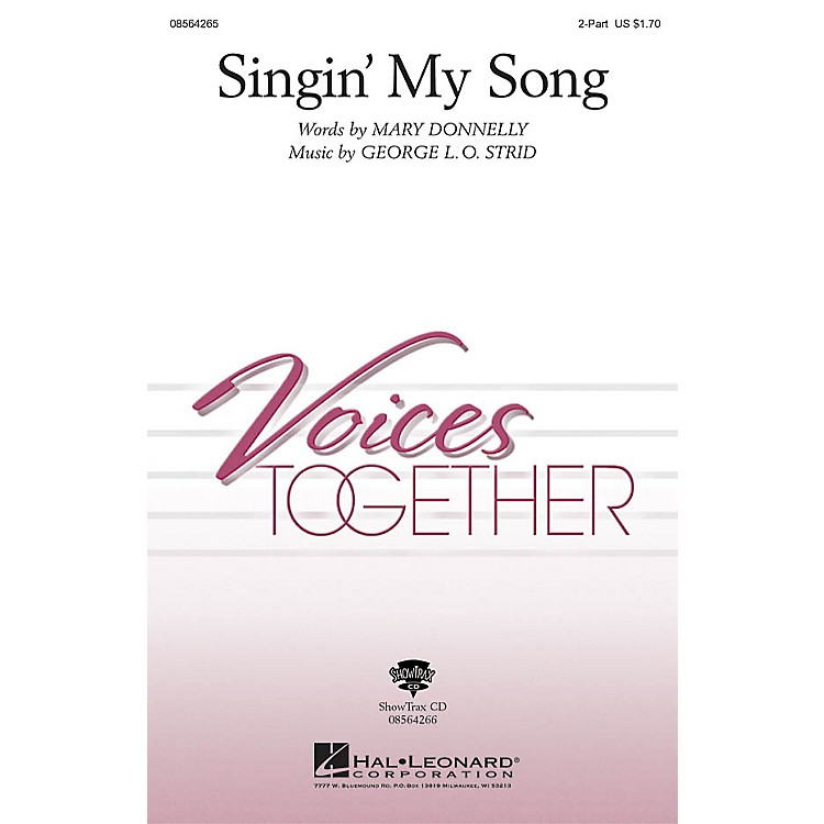 Hal LeonardSingin' My Song ShowTrax CD Composed by Mary Donnelly