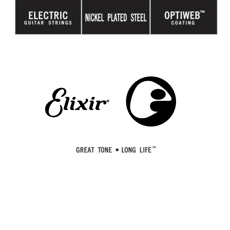 ElixirSingle Electric Guitar String with OPTIWEB Coating (.049)