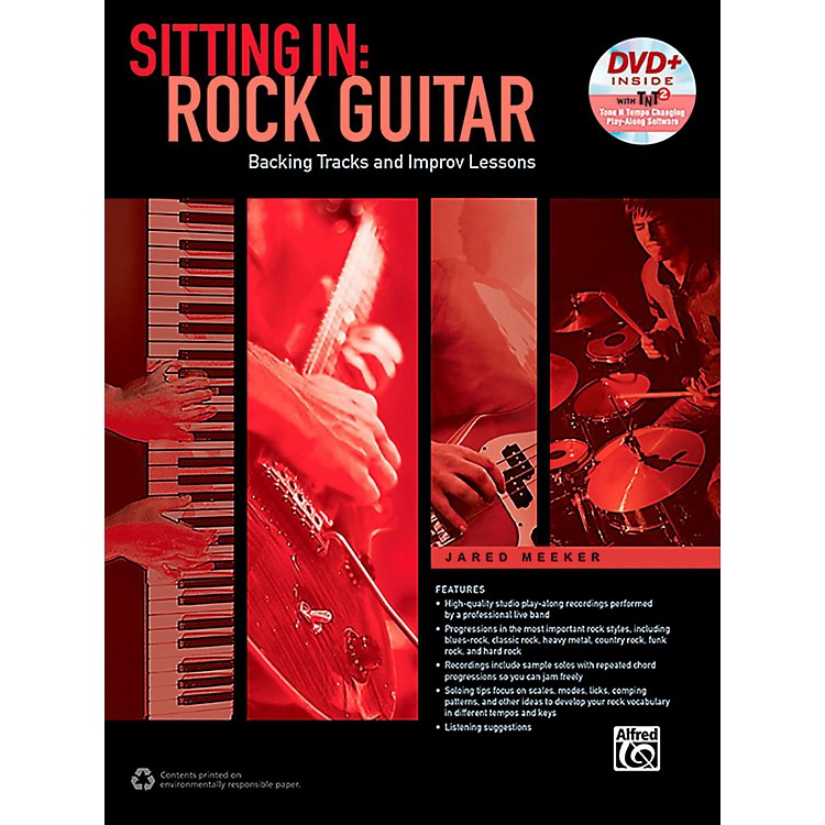 Alfred Sitting In: Rock Guitar Book & DVD-ROM