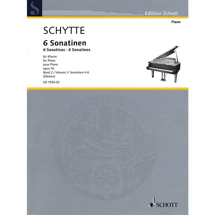 SchottSix Sonatinas, Op. 76, Vol. 2 (Nos. 4-6) Schott Softcover Composed by Schytte Edited by Wilhelm Ohmen