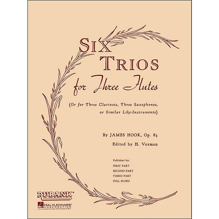 Hal LeonardSix Trios for Three Flutes Third Part Op 83