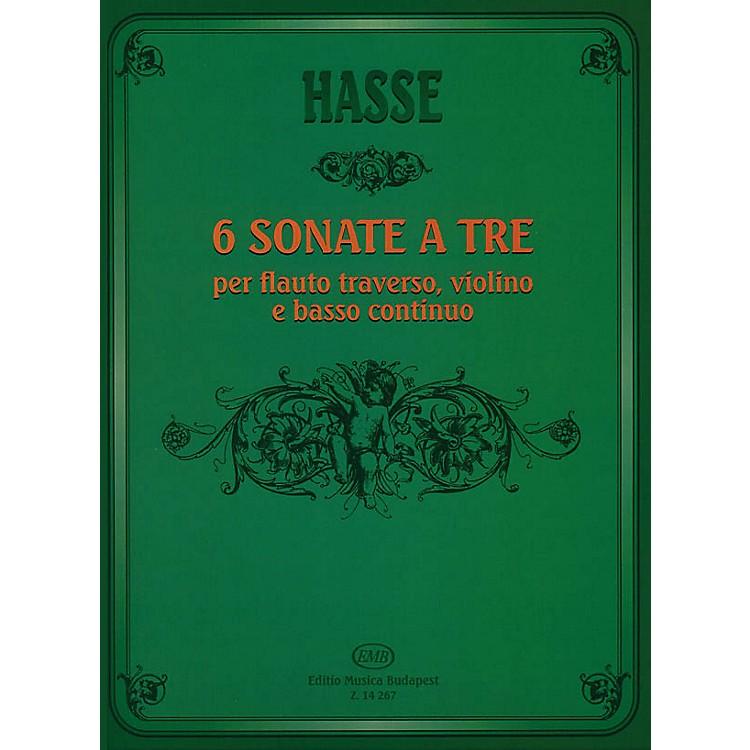 Editio Musica BudapestSix Triosonate per Flauto Traverso, Violino e Continuo EMB Series by J. A. Hasse