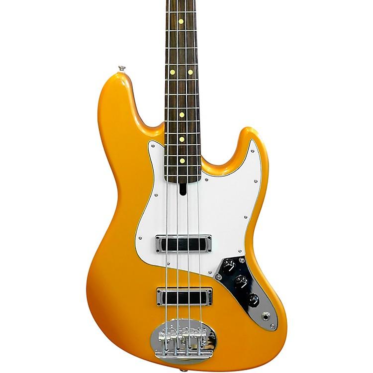 LaklandSkyline J-Sonic Rosewood Fingerboard 4-String Electric Bass GuitarShoreline Gold