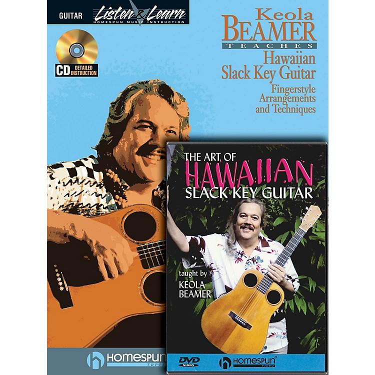HomespunSlack Key Hawaiian Guitar Pack Homespun Tapes Series Softcover with DVD Written by Keola Beamer