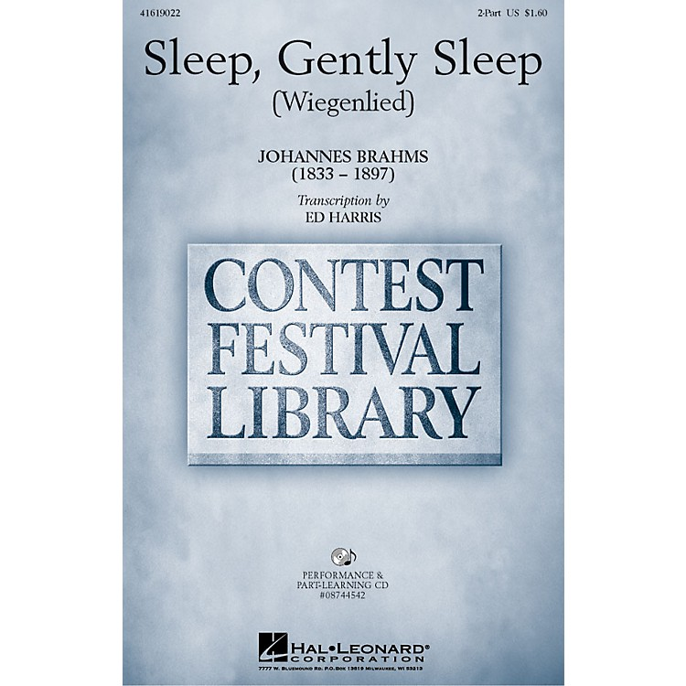 Hal Leonard Sleep, Gently Sleep (Wiegenlied) 2-Part arranged by Ed Harris