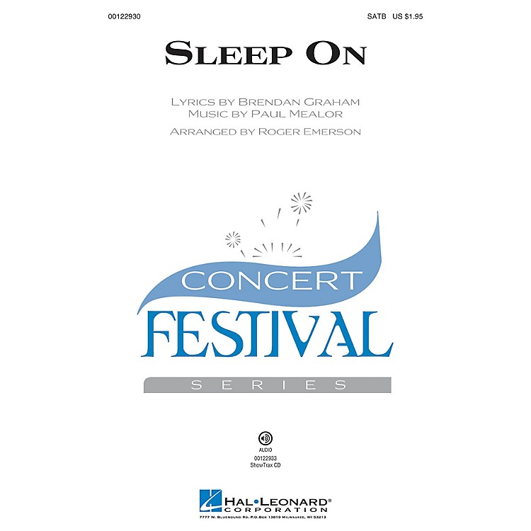 Hal Leonard Sleep On ShowTrax CD by Hayley Westenra Arranged by Roger Emerson