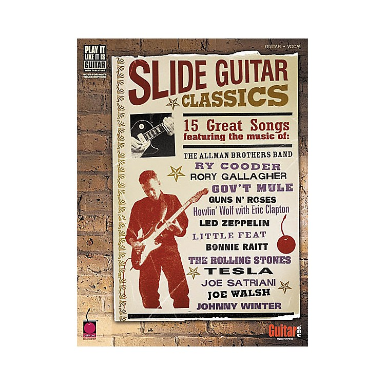 Cherry Lane Slide Guitar Classics Tab Songbook