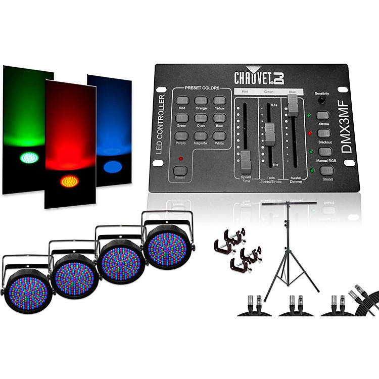 CHAUVET DJSlimPar 64 DMX3MF 4 Light System