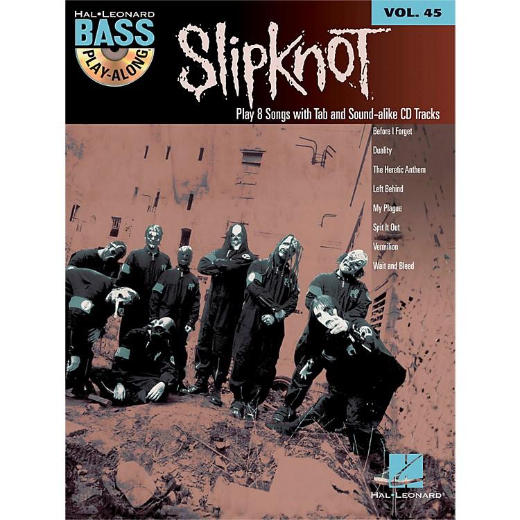 Hal LeonardSlipknot - Bass Play-Along Volume 45 Book/CD
