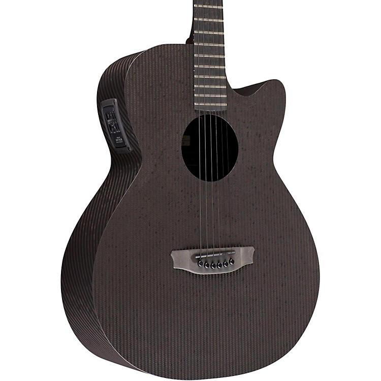 RainSong Smokey All-Carbon Stagepro Anthem Acoustic-Electric Guitar Dark Satin