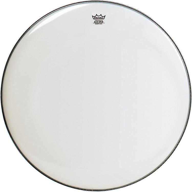 RemoSmooth White Ambassador Bass Drumhead32 in.