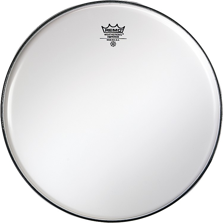 RemoSmooth White Emperor Drumheads13 in.White