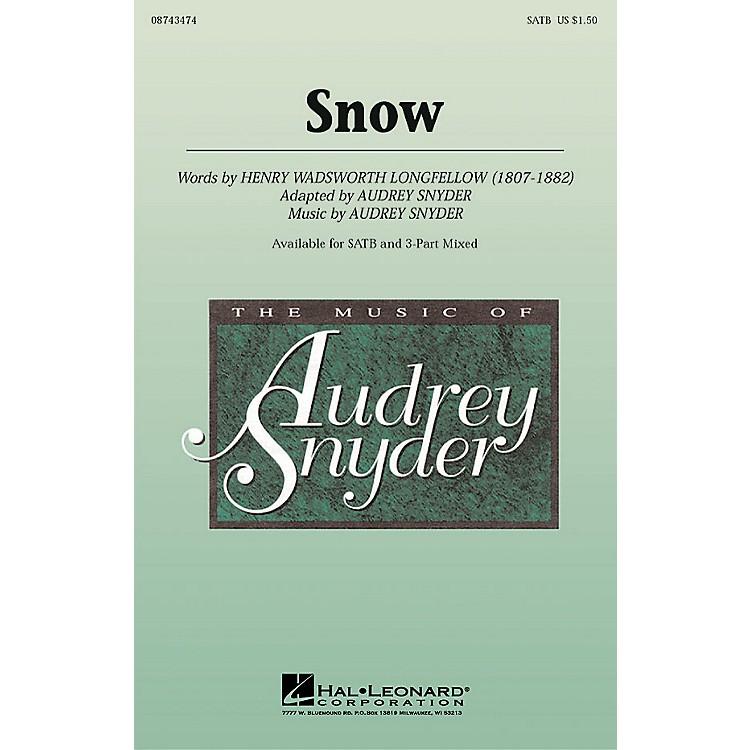 Hal LeonardSnow SATB composed by Audrey Snyder