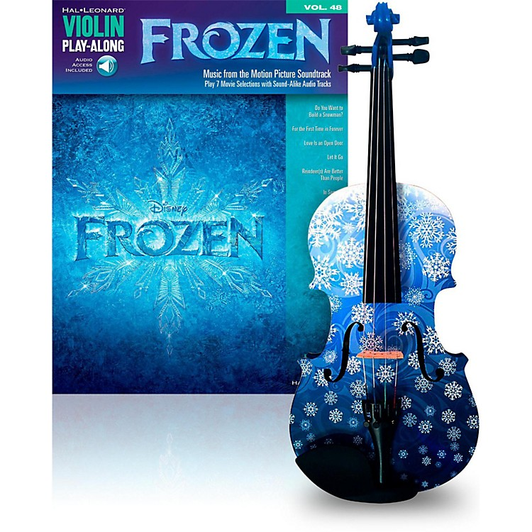 Rozanna's Violins Snowflake 4/4 Violin Outfit with Disney Frozen Songbook