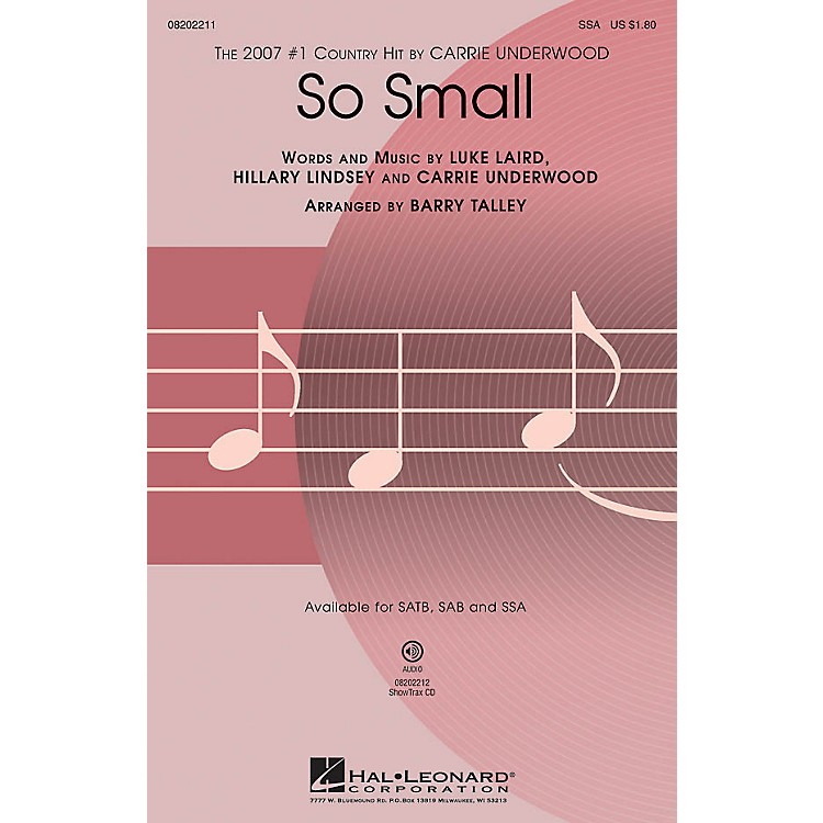 Hal Leonard So Small SSA by Carrie Underwood arranged by Barry Talley