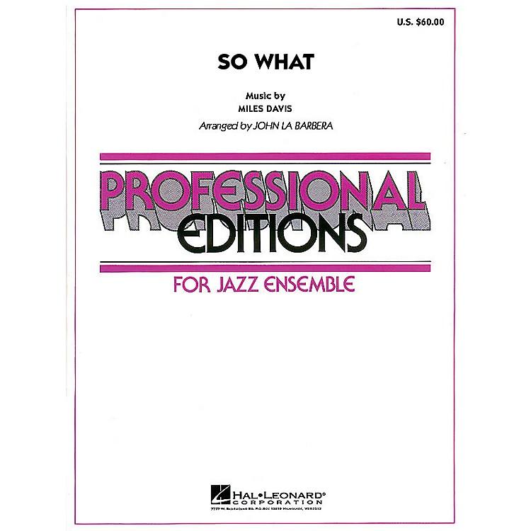 Hal LeonardSo What Jazz Band Level 5 Arranged by John La Barbera