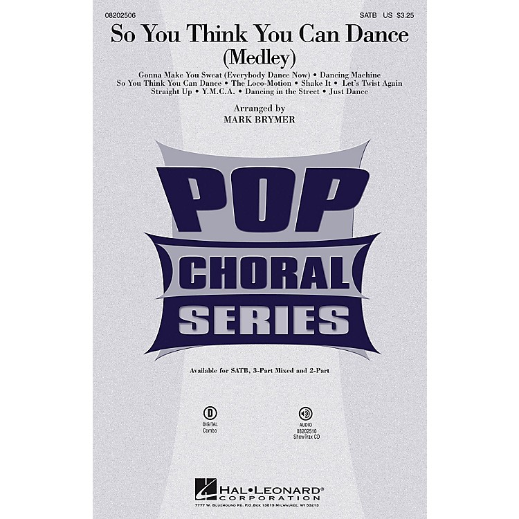 Hal LeonardSo You Think You Can Dance (Medley) 2-Part by Various Arranged by Mark Brymer