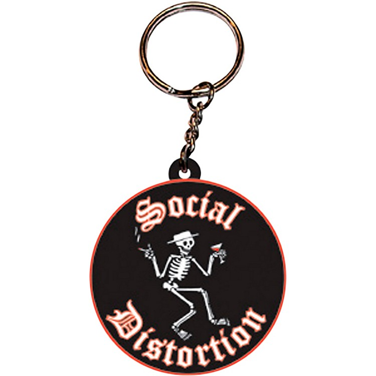 C&D Visionary Social Distortion Logo Rubber Key Chain