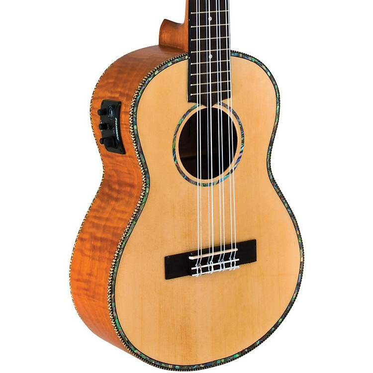LanikaiSolid Spruce/Okume 8-String Tenor Acoustic-Electric Ukulele