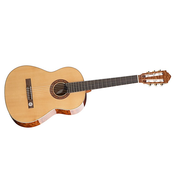 Hofner Solid Spruce Top Quilted Mahogany Body Classical Acoustic Guitar High Gloss Natural 888365028873