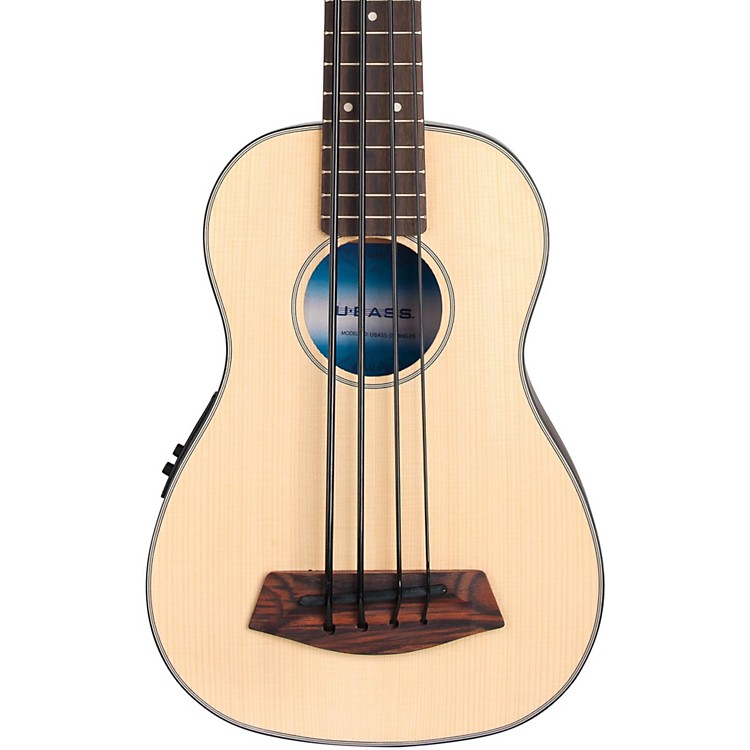 Kala Solid Top Acoustic-Electric U-Bass Natural