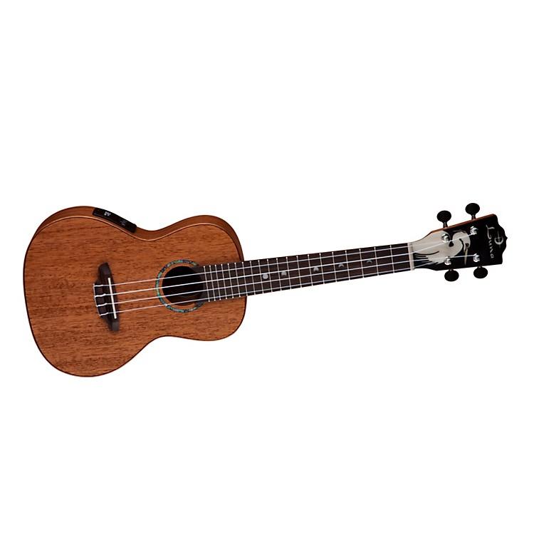 luna guitars solid wood concert acoustic electric ukulele music123. Black Bedroom Furniture Sets. Home Design Ideas