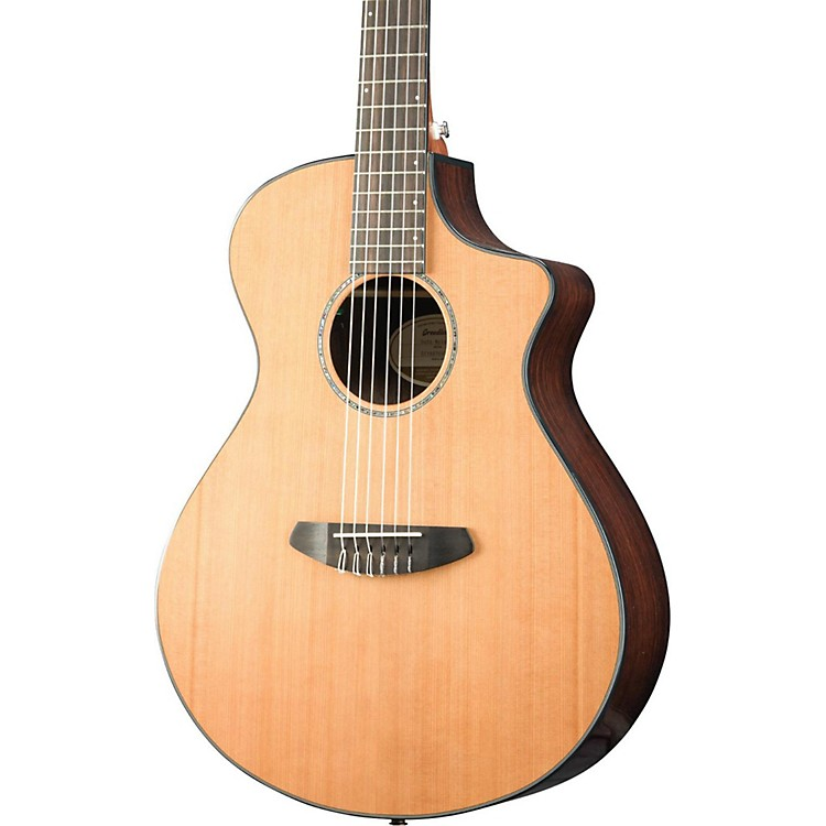 BreedloveSolo Concert Nylon CE Western Red Cedar - East Indian Rosewood Acoustic-Electric GuitarGloss Natural