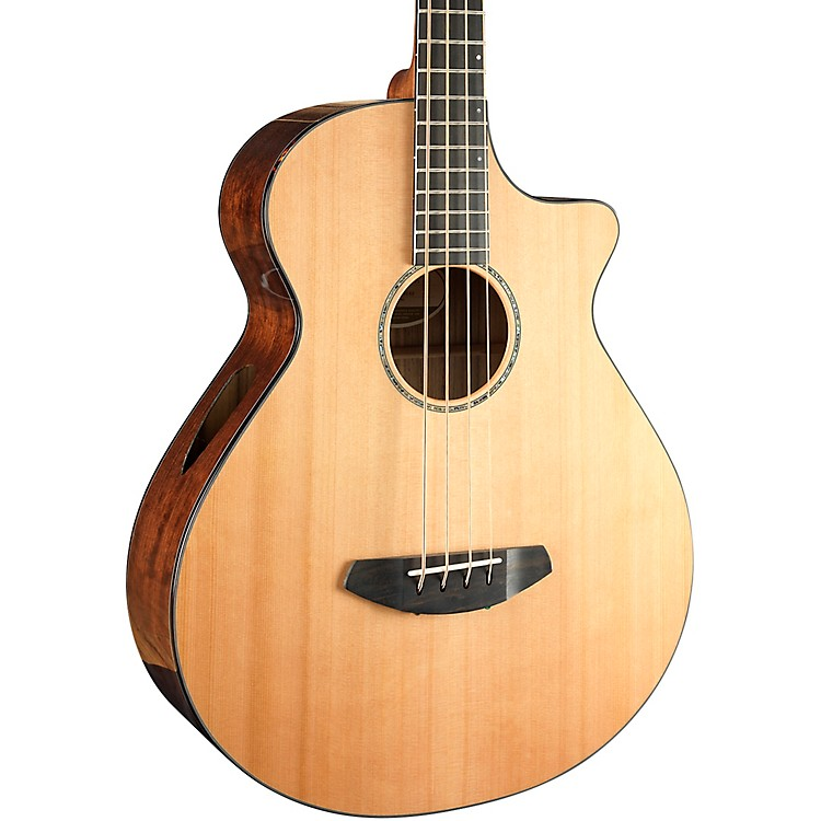 Breedlove Solo Jumbo Bass Acoustic-Electric Guitar Gloss Natural