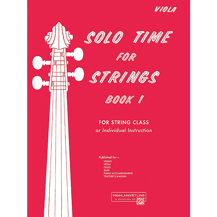 AlfredSolo Time for Strings Book 1 Viola