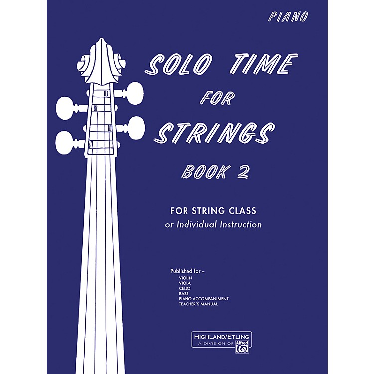 AlfredSolo Time for Strings Book 2 Piano Acc.