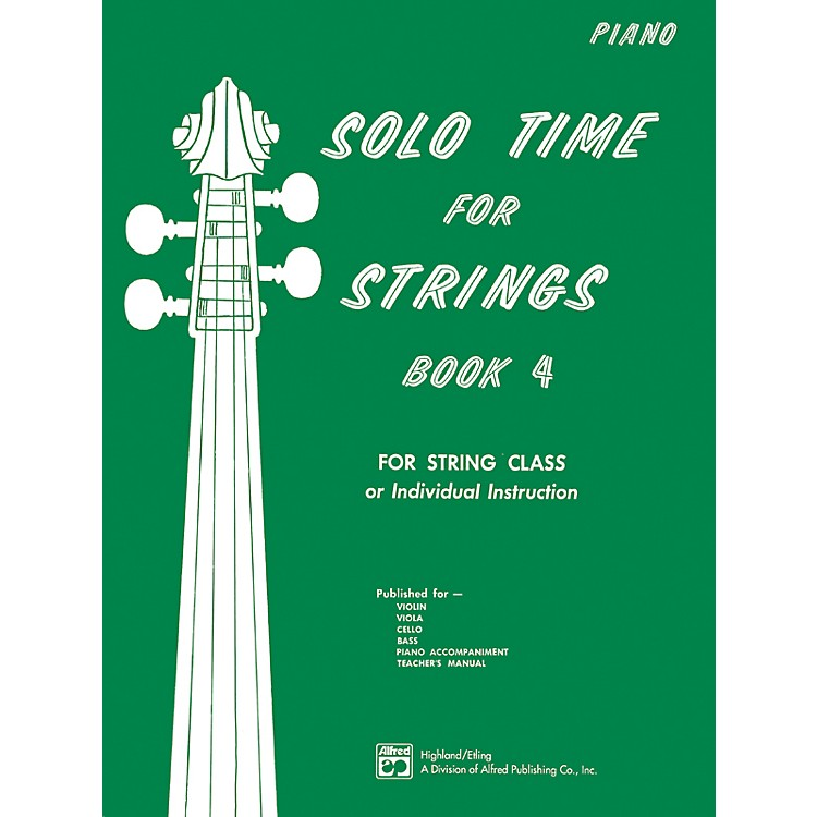 AlfredSolo Time for Strings Book 4 Piano Acc.