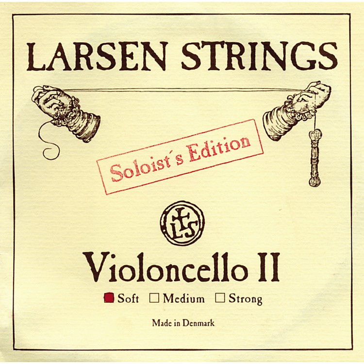 Larsen Strings Soloist Series Cello Strings D, Soloist, Strong