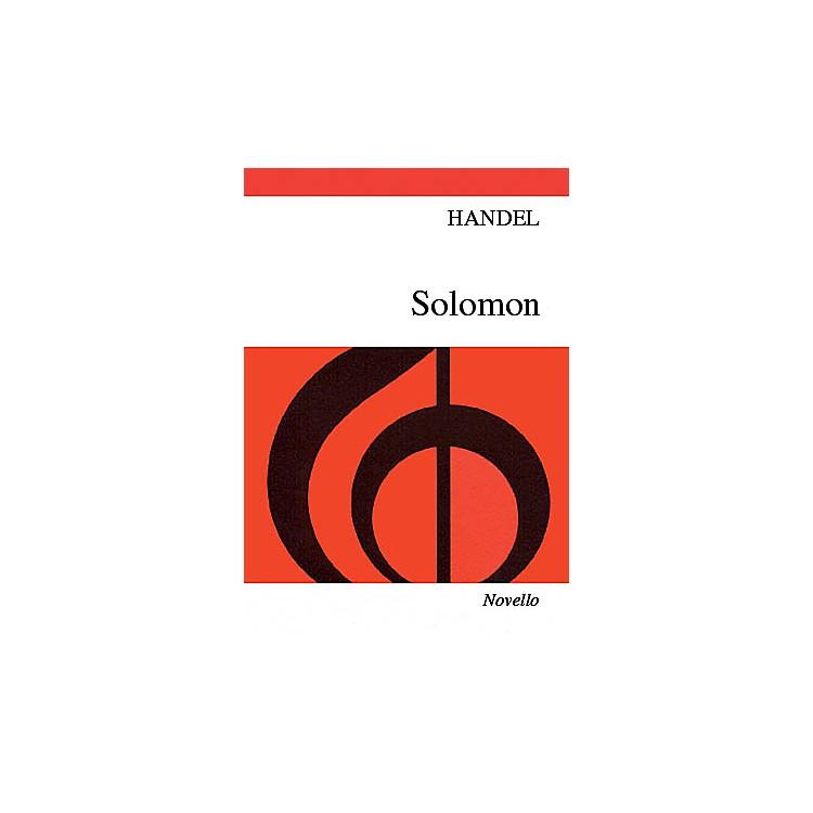 NovelloSolomon (Vocal Score) SATB Composed by George Frideric Handel