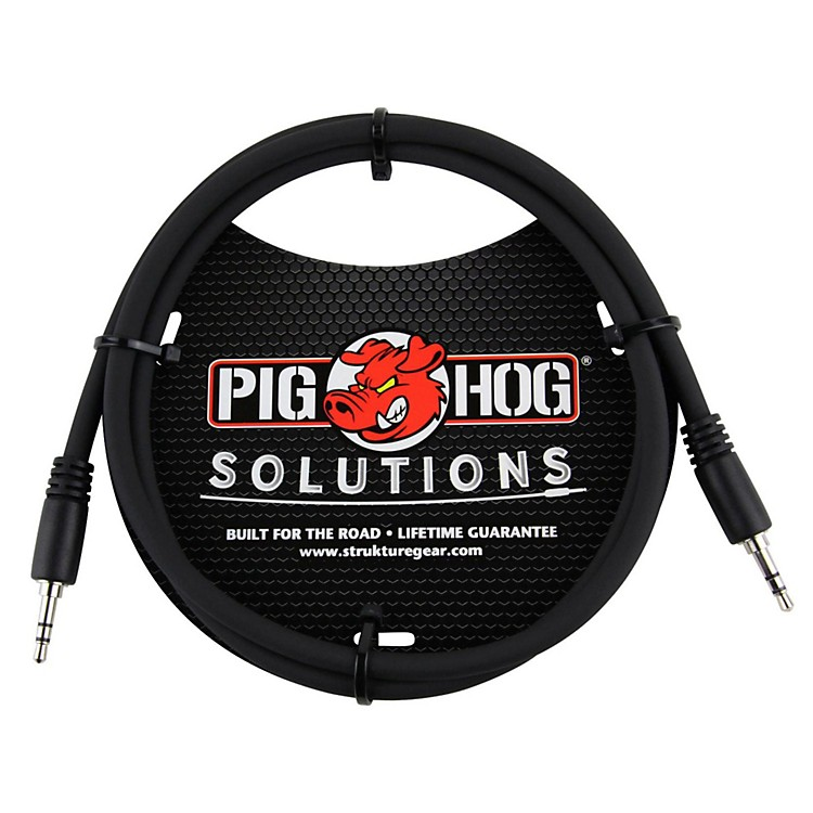 Pig Hog Solutions 3.5mm TRS to 3.5mm TRS Adapter Cable 3 ft.