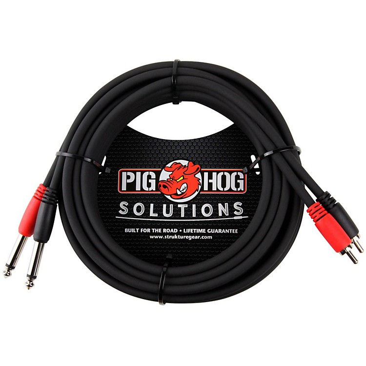 Pig HogSolutions Dual Cable RCA to 1/4