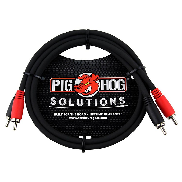 Pig Hog Solutions Dual Cable RCA to RCA (3 ft.) 3 ft.