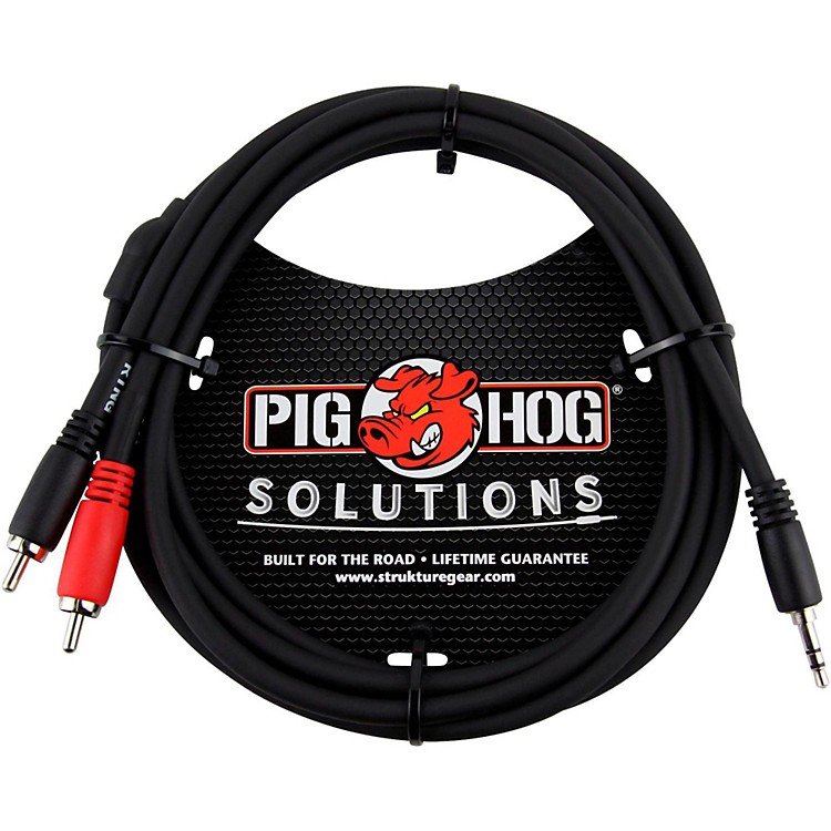 Pig HogSolutions Stereo Breakout Cable 3.5mm to Dual RCA (3 ft.)6 ft.