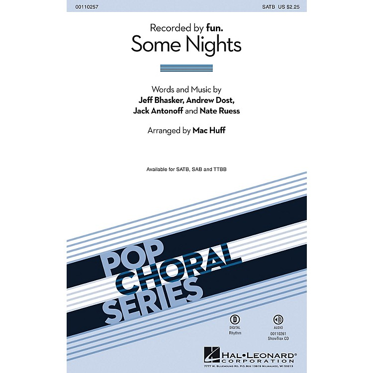 Hal LeonardSome Nights (2-Part Mixed) 2-Part by fun. Arranged by Mac Huff