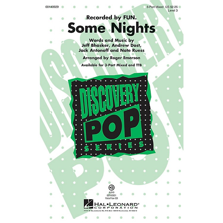Hal LeonardSome Nights (Discovery Level 3) 3-Part Mixed arranged by Roger Emerson