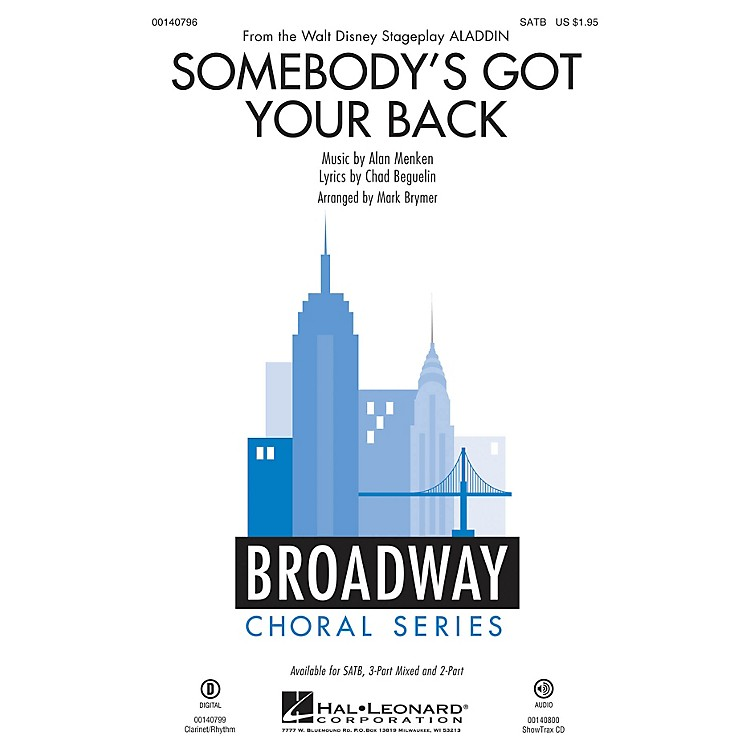 Hal LeonardSomebody's Got Your Back 3-Part Mixed Arranged by Mark Brymer
