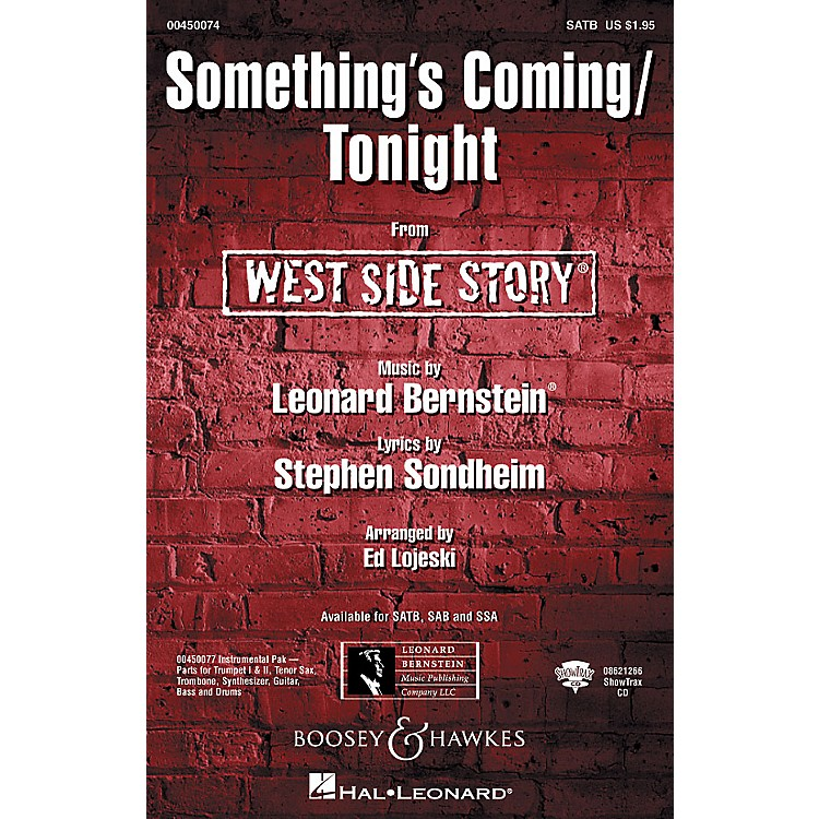 Hal LeonardSomething's Coming/Tonight (from West Side Story) ShowTrax CD Arranged by Ed Lojeski