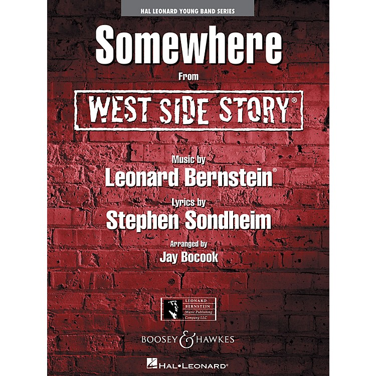 Hal LeonardSomewhere (from West Side Story) Full Score Concert Band Level 3 Arranged by Jay Bocook