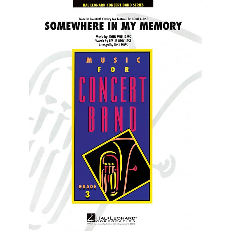 Hal LeonardSomewhere in My Memory from HOME ALONE - Young Concert Band Series Level 3  arranged by John Moss